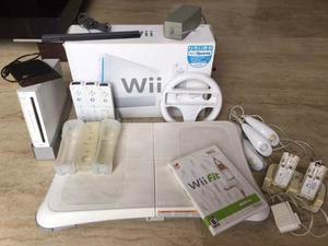 Nintendo Wii Con Accesorios Y Wii Fit