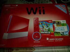 Vendo Nintendo Wii Rojo Aniversario +unid. Externa Samsung