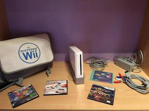 Wii Original, Chipeado, Con Bolso Y Juegos