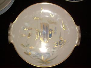 Bandeja De Porcelana H. Grumm Con Figuras De Peces