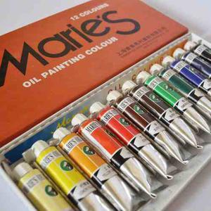 Estuche De 12 Pinturas Al Oleo Marca Maries