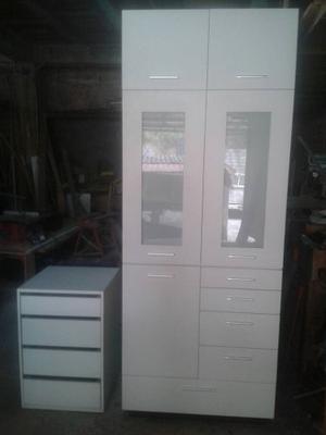 Closet Minimalista De Mdf Y Formica Blanca