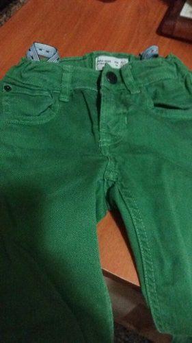 Pantalon De Niño Zara Talla 4/5 Verde