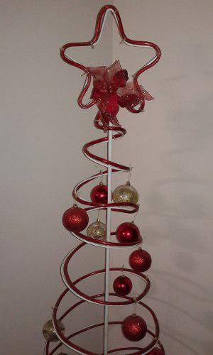 Arbolito De Navidad De Hierro Y Mangueras De Luces De 1.70m