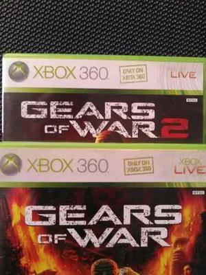 Gears Of War 1 Y 2 Originales (xbox)
