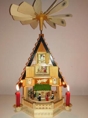 Nacimiento Giratorio Importado Adorno Navidad Navideño