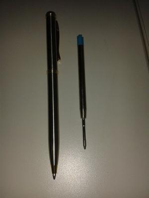 Bolígrafo Y Pluma Golden Line Con Repuestos