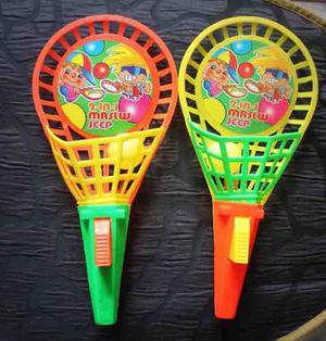 Juego De Raquetas Para Niños Con Dispositivo Lanzapelotas