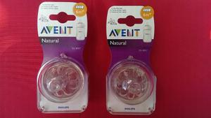 *set De 2 Tetinas Avent Natural 0+, 1+