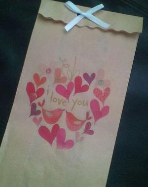 Bolsas Personalizadas Amor Amistad Mamá Pequeñas
