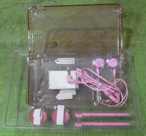 Kit De Accesorios 10 En 1 Para Ds Xl Azul Transparente Nuevo