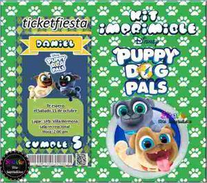 Kit Imprimible Puppy Dog Pals Candy Bar Disney