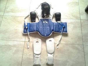Peto De Protección Guantes Y Canilleras Para Kung Fu
