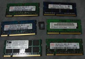 7 Memorias Laptop Ddr3, Ddr2 Y Micro Sd De 1gb Y 4gb