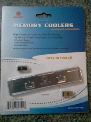 Disipadores De Calor Para Memoria Ram/memory Coolers Coolmax