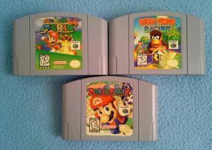 Nintendo 64 Juego Mario Party + Mario 64 + Diddy Kong Racing
