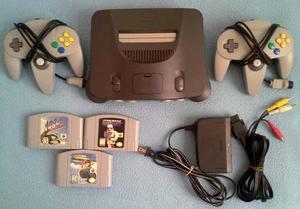 Nintendo 64 Original 2 Controles 3 Juegos