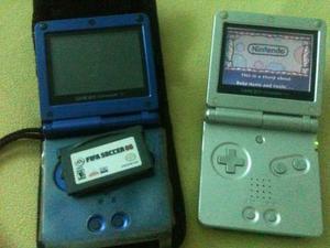 2 Game Boy Sp Con 2 Juegos + 1 Forro + Cargador