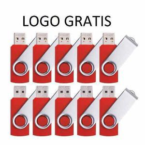 50 Pendrives 16gb Giratorio Logo Incluido Precio Por Lote