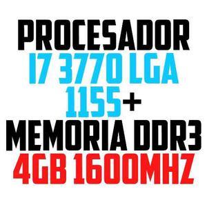Combos Procesador I7 3.4ghz  Lga  + Memoria 4gb Ddr3