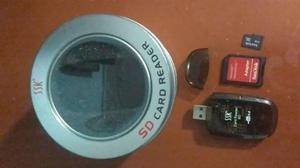Kit Lector Tipo Pendrive Con Memoria Micro Sd 4gb