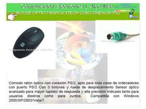 Mouse Optico Marca Xtech(Tres Botones) Conexión Ps2 Usado