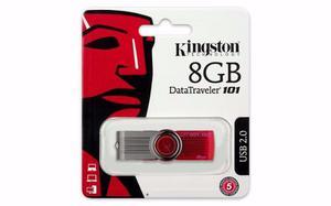 Pen Drive Kingston Digital 8gb 101 G2 Usb 2.0 Drive - Rojo