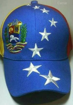 Gorra De Venezuela Tricolor 100% Bordada