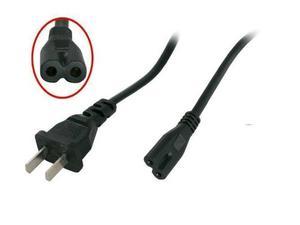 Cable Corriente Poder Para Cargador Laptop 2 Polos Dos Polos