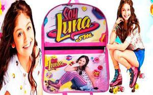 Combo Bolso Morral Escolar + Cartuchera Soy Luna Disney