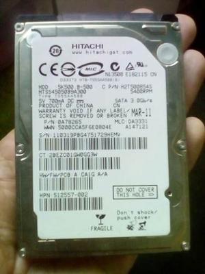 Disco Duro 500gb Sata 2.5 Laptop Usado