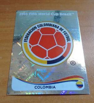 Escudo Selección Colombia. Panini Mundial Brasil