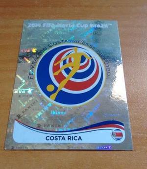 Escudo Selección Costa Rica. Panini Mundial Brasil