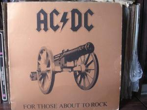 Lp - Ac/dc For Those About To Rock (we Salute You)