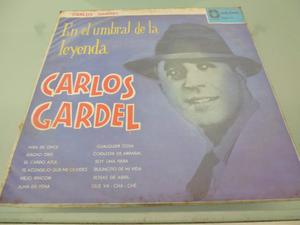 Lp / Carlos Gardel / En El Umbral De La Leyenda / Tango /