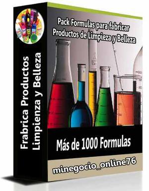 Pack De Formulas Para Elaborar Productos Limpieza Y Belleza
