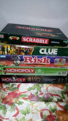 Juegos De Mesa Monopoly, Risk, Clue, Scrabble