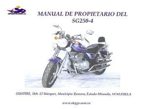 Manual De Usuario Skygo Flydragon 250 Y Diagrama Eléctrico