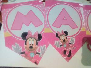 Banderin De Minnie Mouse