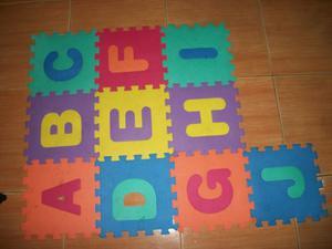 Alfombra Foami Para Bebés 10 Piezas De Letras