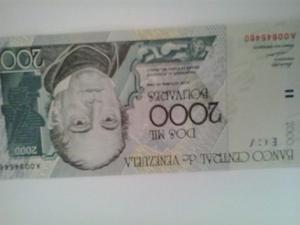 Billete De  Bolivares De Coleccion