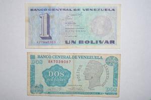 Billetes De 1 Y 2 Bs ¨tinoquitos¨ (1)