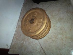 Discos De Pesas Gold's Gym Dorados - 2,5 Kg