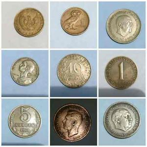 Excelente Colección De Monedas Antiguas Europeas Buen