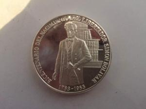 Moneda Bicentenaria Del Natalicio De Simon Bolivar