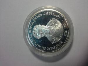 Moneda De Plata. 500 Bs.bicentenario Antonio Jose De Sucre