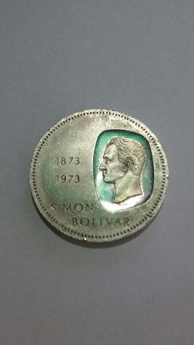 Moneda Plata Doblon Simon Bolivar Centenario