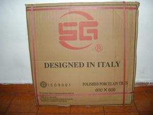 Porcelanato Beige 60x60 Marmoleado Marca Italiana El M2