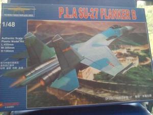 Modelo Avion P.l.a Su 27 Flanker B Esc 1/48 Marca Zhengdefu