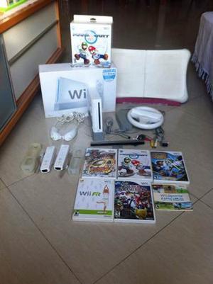 Nintendo Wii Usado Con Accesorios/wii Fit C/ Tabla /5 Juegos
